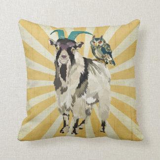 Almohada de Mojo de la cabra y del búho de Billy Cojín Decorativo