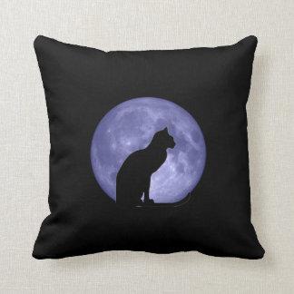 Almohada de Mojo de la luna azul del gato negro