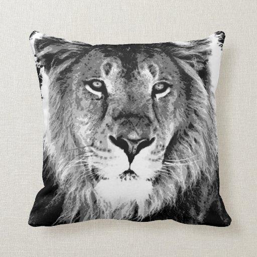 Almohada de MoJo del americano de la cara del león