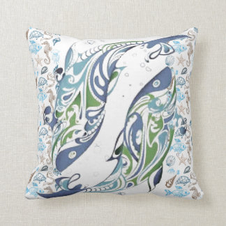 Almohada de MoJo del americano de la vida marina