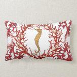 Almohada de MoJo del americano del coral rojo