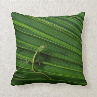 Almohada de Mojo del americano del lagarto verde