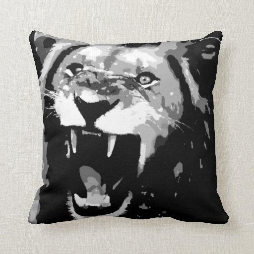 Almohada de MoJo del americano del león de B&W