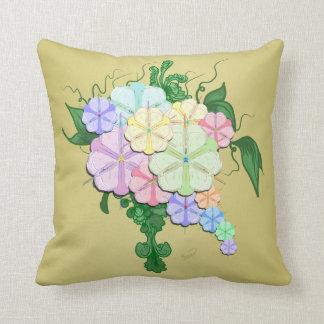 Almohada de MoJo del americano del ramo floral