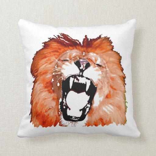 Almohada de MoJo del americano del rugido del león