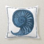 Almohada de no. 3 del azul del Seashell del vintag