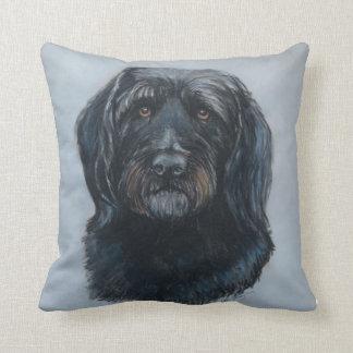Almohada de oro del arte del perro del Doodle de K
