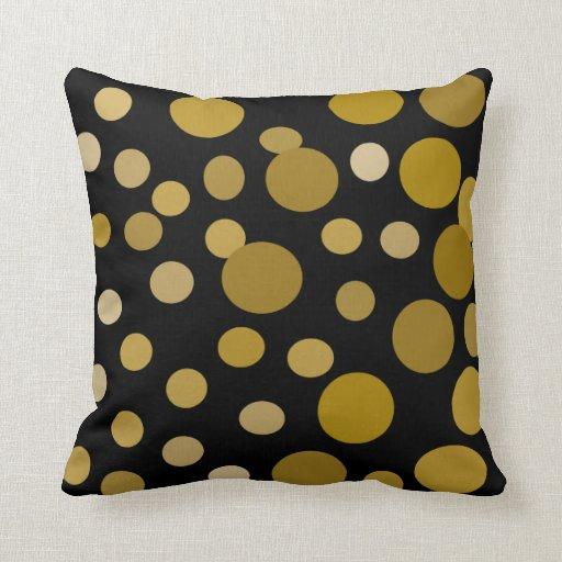 Almohada de oro del negro de la burbuja
