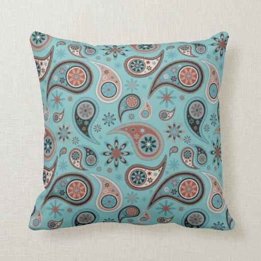 Almohada de Paisley - azul claro - 2