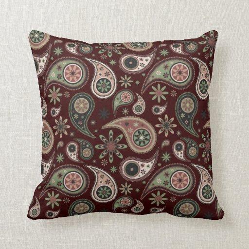Almohada de Paisley - verde/rosa - 2