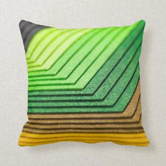 Almohada de papel sombreada verde