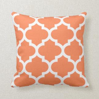 Almohada de Quatrefoil en naranja de la nectarina Cojín Decorativo