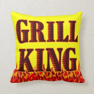 Almohada de rey Red Flames BBQ Art de la parrilla