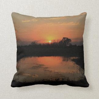 Almohada de s de la puesta del sol de Kansas '