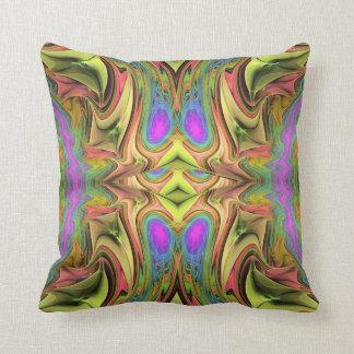 Almohada de tiro abstracta artística del fractal