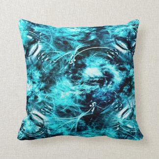Almohada de tiro abstracta azul