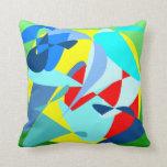 Almohada de tiro abstracta colorida original