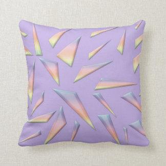 Almohada de tiro abstracta de encargo de la lavand