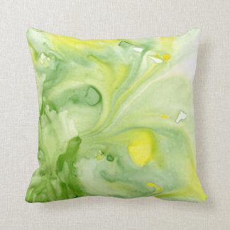 Almohada de tiro abstracta de la acuarela de los cojín decorativo