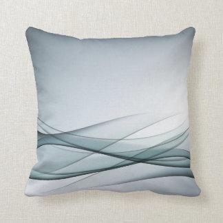Almohada de tiro abstracta de la aguamarina