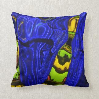 Almohada de tiro abstracta del amarillo de la