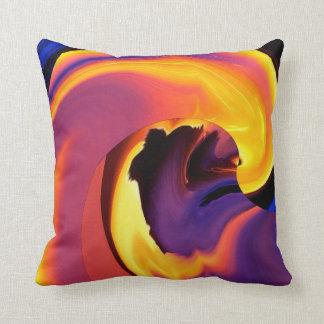 Almohada de tiro abstracta del flujo de lava