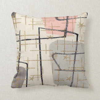 Almohada de tiro abstracta moderna de la tela de