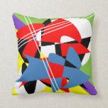 Almohada de tiro abstracta original colorida
