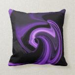 Almohada de tiro abstracta púrpura Amethyst del co