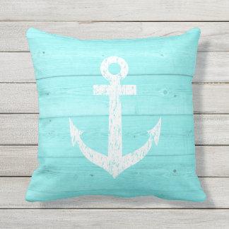 Almohada de tiro al aire libre del ancla náutica cojín decorativo