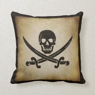 Almohada de tiro alegre de la bandera de pirata de cojín decorativo