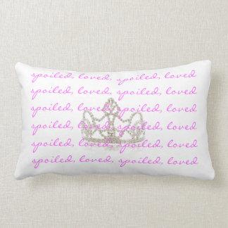 Almohada de tiro amada estropeada del rosa de la c