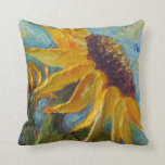 Almohada de tiro amarilla del girasol