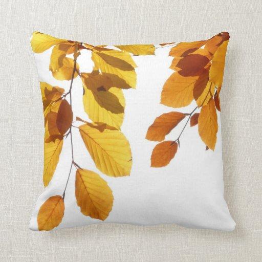 Almohada de tiro amarillo-naranja del árbol de las