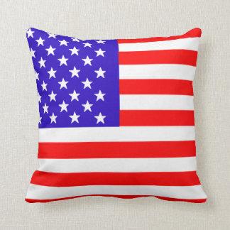 almohada de tiro americana de la bandera de los