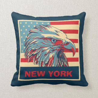 Almohada de tiro americana del águila de Nueva