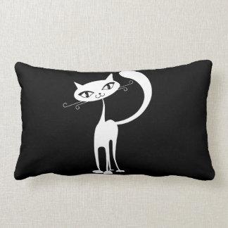 Almohada de tiro amistosa del gato cojín lumbar