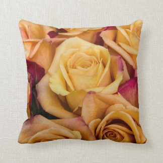 Almohada de tiro anaranjada de los rosas cojín decorativo