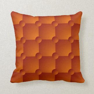Almohada de tiro anaranjada del modelo del edredón