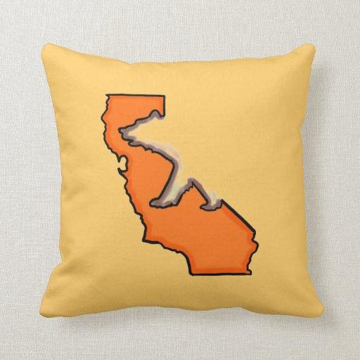 Almohada de tiro anaranjada del símbolo de estado