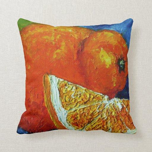 Almohada de tiro anaranjada del Tangelo