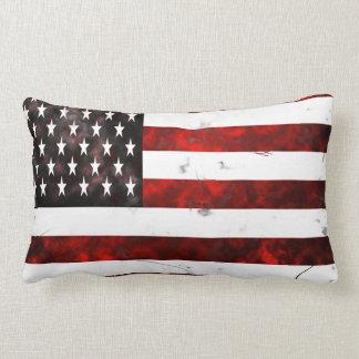 Almohada de tiro apenada de la bandera americana