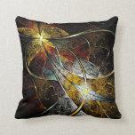 Almohada de tiro artística colorida del fractal
