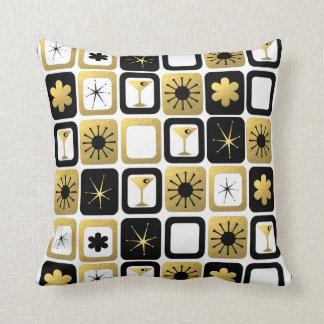Almohada de tiro atractiva retra del oro