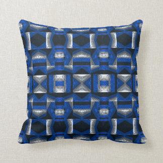 Almohada de tiro azul brillante del algodón del