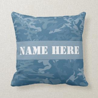 Almohada de tiro azul clara conocida de encargo cojín decorativo