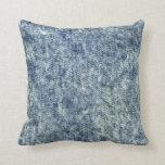Almohada de tiro azul de Jean del lavado ácido