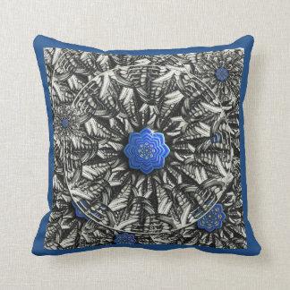 Almohada de tiro azul de la mandala de Lotus del