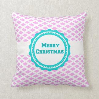 Almohada de tiro azul de las Felices Navidad del Cojín Decorativo