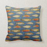 Almohada de tiro azul de los pescados de agua